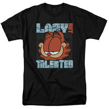 Garfield Comic Cat LAZY BUT TALENTED Licensed Adult T-Shirt All Sizes