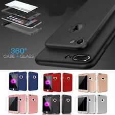 360° Full Hybrid Protection Ultra Hard Case+Tempered Glass For Apple IPhone