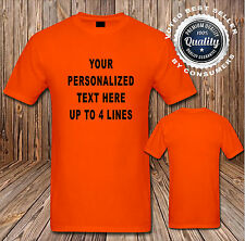 Custom Personalized T Shirts Your Design Text (Your Text Here Lot 1200#)