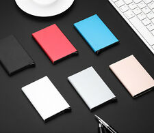 Man Women Fashion Metal Aluminum Slim Business ID Credit Card Holder Box Case CA