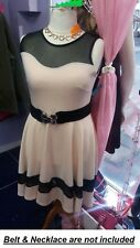New Sienna Couture Skater Pink Navy Dress PARTY PLUS Size 16- 26 LOOK be yours