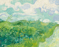 Green Wheat Fields, Auvers 1890 by Vincent van Gogh Impressionist Giclee