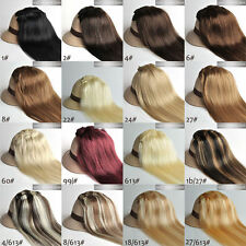 "NEW 7PCS Clip In Remy Human Hair Extensions Any Colors Full Head 15""18""20""22"""