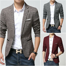 2017 Flax Mens Slim Fit Blazers Spring Coats Suit Casual Clothes Coat Jackets