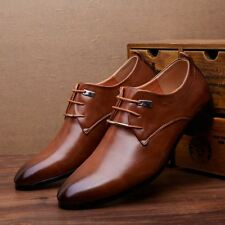 Men's Business Shoes Leather Casual Shoes Dress Formal Meeting Oxfords Shoes
