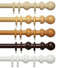 Speedy County 28mm Wooden Curtain Poles Sets & Accessories