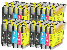 20 printer cartridges Ink Cartridges compatible with Brother LC-985 Set