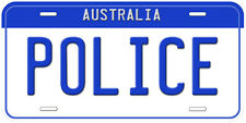 Australia States And Territories Police Any Name Personalized Car License Plate