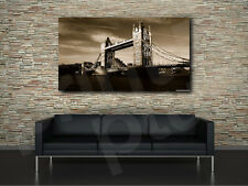 London Tower Bridge Old Style Art Canvas Poster Print Home Wall Decor