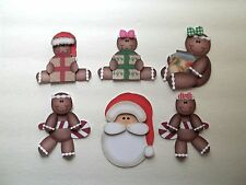 3D - U Pick - XM11 Gingers Santa Present Christmas  Card Scrapbook Embellishment
