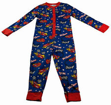 Boys Onesie Pyjamas Nightwear Cotton NEW LIghtning McQueen Cars Size Ages 1-6Y