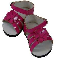 """6 PAIR OF COLLECTABLE DOLL SHOES FOR 18"""" DOLL Pink Strappy Sandal WHOLESALE LOT"""