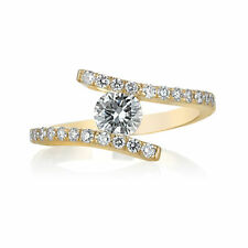 Engagement Ring Diamond 0.78 Carat G VS2 14K Yellow Gold Band Size 6.25 Enhanced