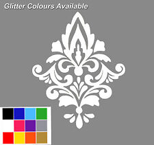 Damask Wall Sticker x 5. Tile Stickers. Damask Wall Decal. Wall Tile Stickers.