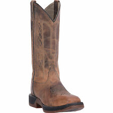 Laredo Mens Tan Bennett Leather Cowboy Boots Stockman