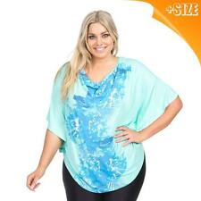 New Ladies Womens Mint Floral Autograph Plus Size Cowl Neck Top Blouse 14-20
