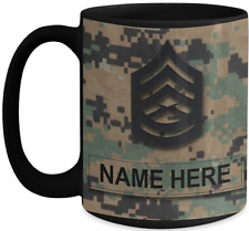 US Marine Corps Coffee Mug - Personalized Rank & Name - USMC Gift for Marine