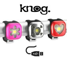 Knog Blinder 1 Bike Lights in Singles, Pairs, Fronts & Rears USB Rechargeable