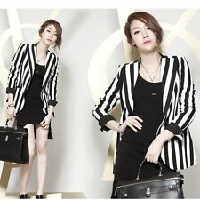 Spring Fall Slim Small Suit Jacket Thin Black , White Color Blazer For Women