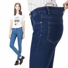 Woman Elastic Plus Size Denim Hight Waist Pencil Jeans