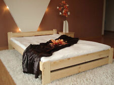 Pine Double bed frame 4ft6 with mattress