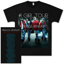 "Mindless Behavior ""#1 Girl Tour"" Admat 2012 Concert Tour T-Shirt Licensed New"