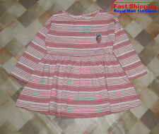 BNWT NEXT GIRLS' RED STRIPED TUNIC VARIOUS SIZE