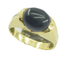 Black Onyx Gold Plated Ring admirable Black suppiler AU K,M,O,Q