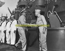 USN Admiral Halsey  Black n White Photo Military  Fleet Admiral Nimitz WW2 USS