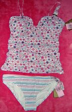 NWT $161 JUICY COUTURE TANKINI SWIMSUIT, SIZE  LARGE