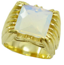 Fire Opal CZ Gold Plated Ring ideal White Designer AU K,M,O,Q