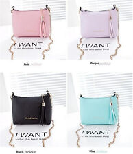 New Tassel Mini Small Shell bags Candy Chain Women's Leather Shoulder Handbags