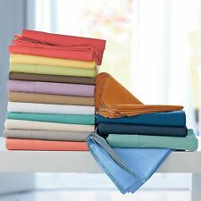 4PCS BED SHEET SET SOLID ALL COLORS / SIZES 1000TC 100% EGYPTIAN COTTON
