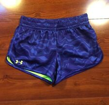 Under Armour Heat Gear Womens Athletic Shorts Lined Small Semi Fitted Pattern