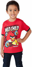 Angry Birds Wild Child Toddler Boys Red T-Shirt