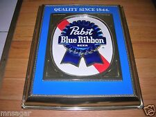 PABST BLUE RIBBON TIN PLASTIC BEER FRAME SIGN/PABST BLUE RIBBON BEER FRAME SIGN