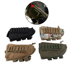 Tactical Shotgun Rifle Buttstock Cheek Rest Shell Ammo Mag Pouch Right Hand OB