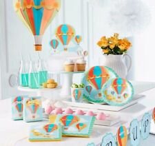 Up, Up and Away Hot Air Balloon Themed Baby Shower Party Supplies - 1st Birthday