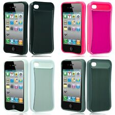 For Apple iPhone 4/4S Hard Aluminum SHOCKPROOF SLIM-GRIP Cover Case