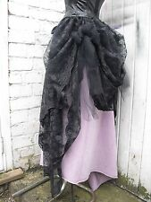 Black lace bustle Victorian Steampunk Whitby Gothic Lolita Top Skirt Burlesque