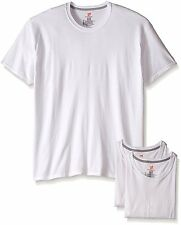 Hanes Men's 3-Pack Comfort Blend Crew, White, Large