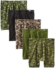 Hanes Men's 5-Pack FreshIQ Comfort Soft Printed Boxer Briefs, Printed/Camo,...