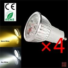 4x 4W GU10 Warm / Day White Spot LED Light Bulbs Lamps Downlight Saving Energy