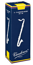 Vandoren Bass Clarinet Reeds, Pack of 5, Various Strengths