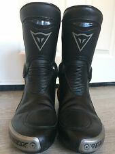 Mens Dainese Torque Black Leather Motorcycle Boots Size 9 EU 43 Sports New £248