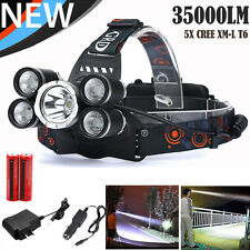 35000LM CREE XM-L T6 LED Headlamp Headlight Flashlight Head Light Lamp Torch New