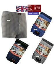New Mens Billy Boxer Shorts Assorted Soft Ribbed Cotton Button Fly S M L XL XLL