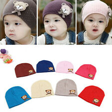 Toddlers Infant Boys Girl Kid Baby Cute Hat Bear Dots Cotton Decor Cap Hat0-8M