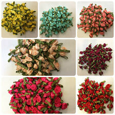 Satin Ribbon Roses Buds Embellishments - Small - 28 Colours To Choose From