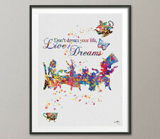 Alice Inspirational Quote Mad Hatter Tea Party Alice in Wonderland Watercolor